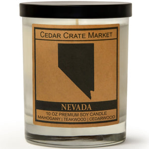 Nevada | Teakwood Mahogany | 100% Soy Wax Candle