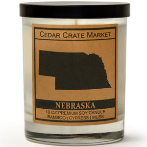 Nebraska | Bamboo Forest | 100% Soy Wax Candle