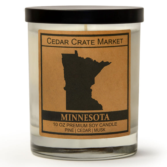 Minnesota | Balsam and Cedar | 100% Soy Wax Candle