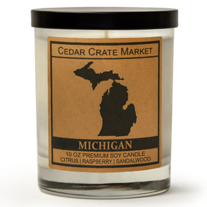 Michigan | Raspberry Sangria | 100% Soy Wax Candle