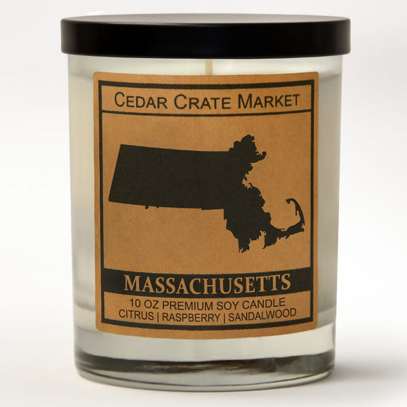 Massachusetts | Raspberry Sangria | 100% Soy Wax Candle
