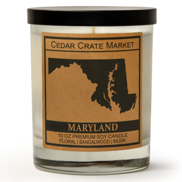 Maryland | Ocean Rose | 100% Soy Wax Candle