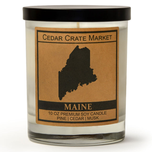 Maine | Balsam and Cedar | 100% Soy Wax Candle