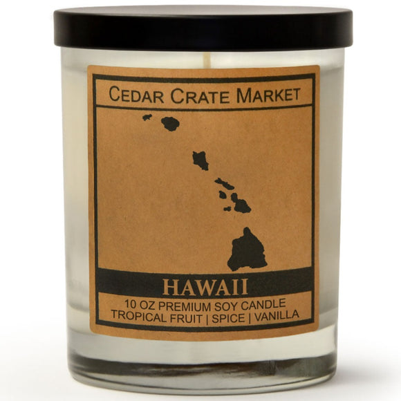 Hawaii | Tropical Fruit Temptations | 100% Soy Wax Candle