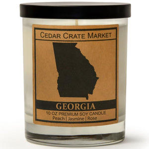 Georgia | Citrus Peach | 100% Soy Wax Candle