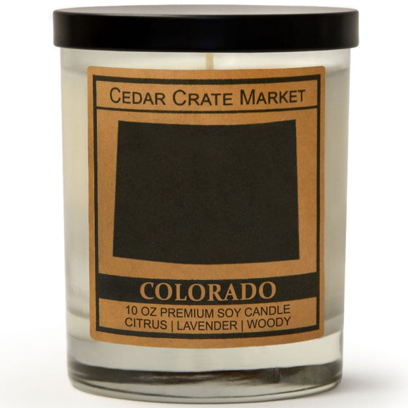 Colorado | Lavender and Lemongrass | 100% Soy Wax Candle