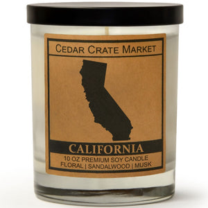 California | Ocean Rose | 100% Soy Wax Candle