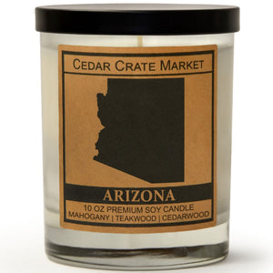 Arizona | Teakwood Mahogany | 100% Soy Wax Candle
