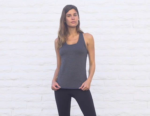 Lux Performance Tank | Ink Heather Image