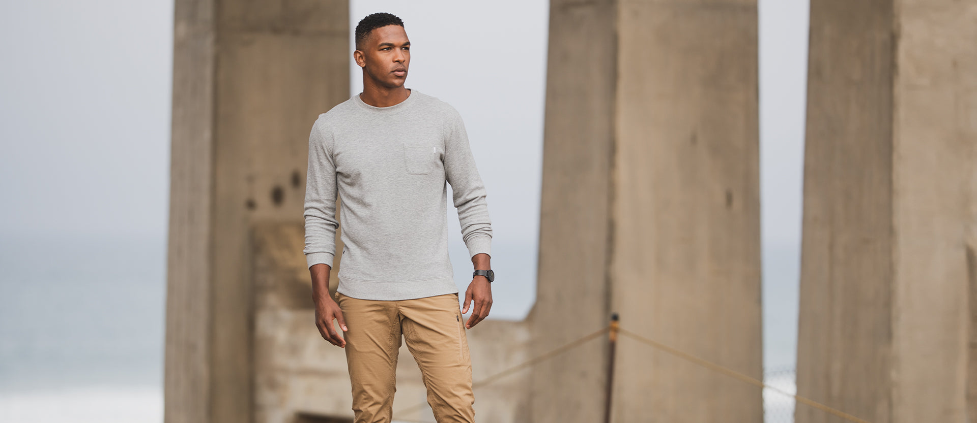 Jeffreys Pullover | Heather Grey Image