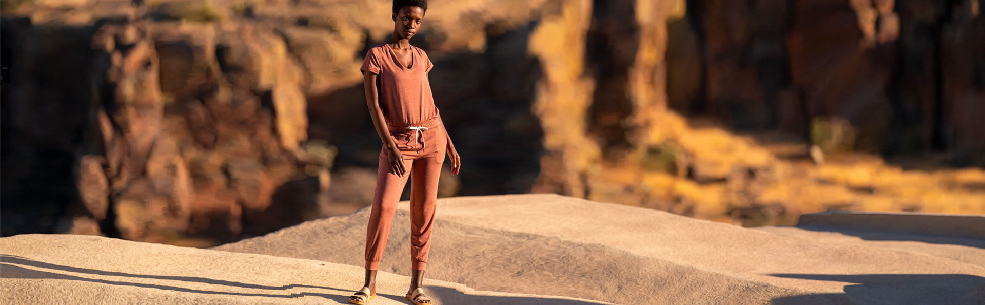 All Day Romper | Terracotta Heather Image