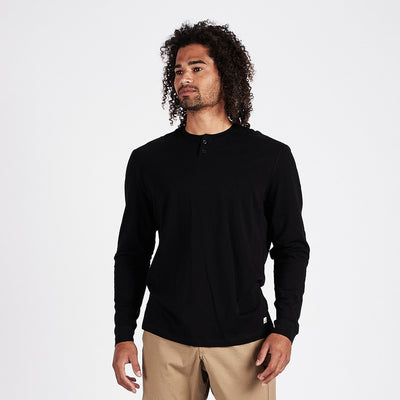 Long-Sleeve Ever Henley | Black