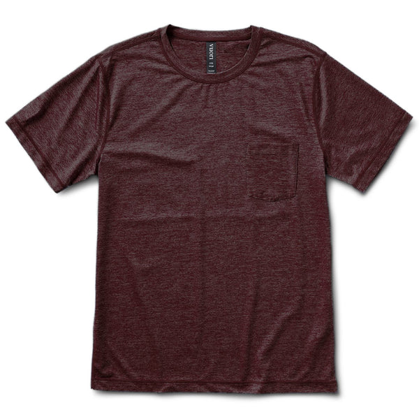 Tradewind Performance Tee | Oxblood Heather