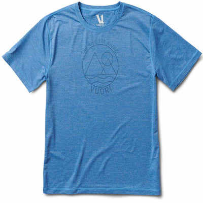 Rise The Shine Tech Tee | Azure