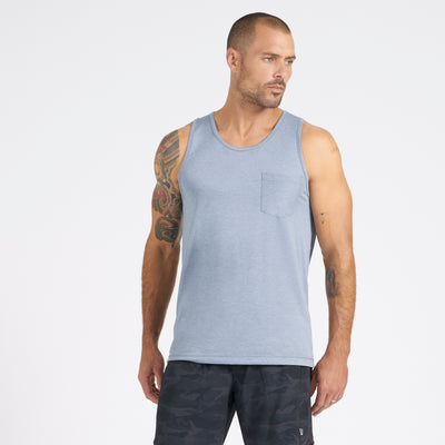 Tradewind Performance Tank | Cloud Heather