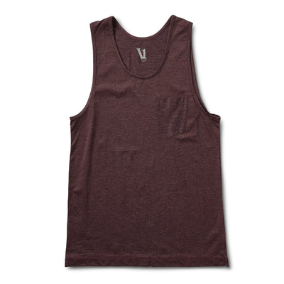 Tradewind Performance Tank | Oxblood Heather