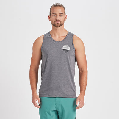 Watermans Sun Stripe Tank | Heather Grey