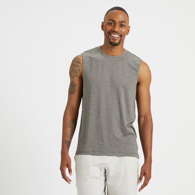Zephyr Muscle Tee | Charcoal Heather