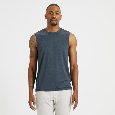 Zephyr Muscle Tee | Indigo Heather