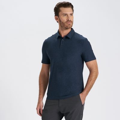 Strato Tech Polo | Navy Heather