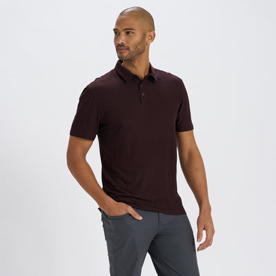 Strato Tech Polo | Oxblood Heather