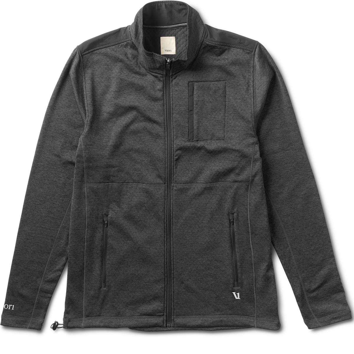 Geo Performance Jacket | Black Heather