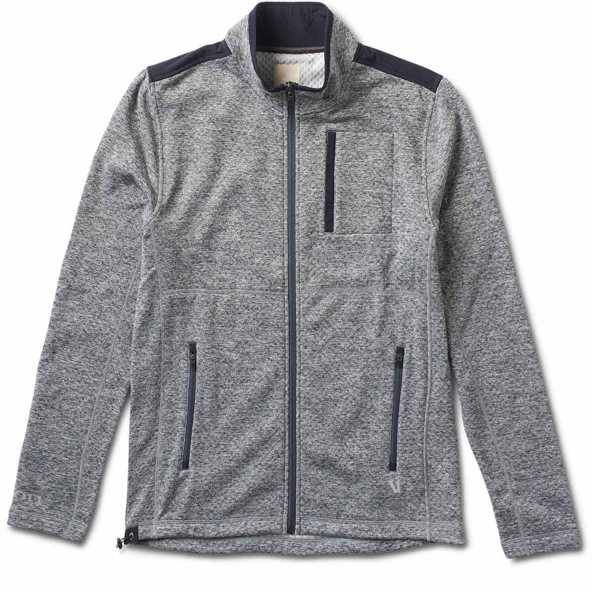 Geo Performance Jacket | Heather Grey