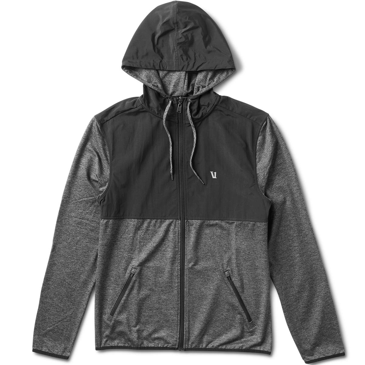 Element's Zip Hoodie | Heather Charcoal / Black
