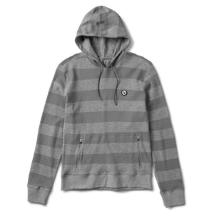 Clark Hoodie | Heather Grey Stripe