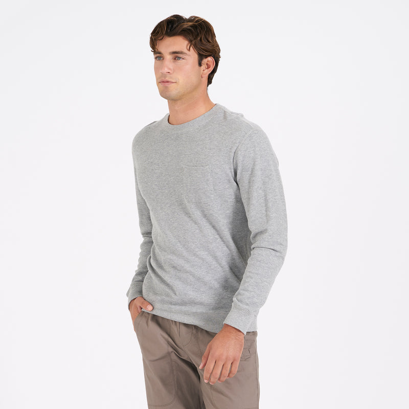 huge discount 4ad13 66a6f Jeffreys Pullover | Heather Grey – Vuori Clothing