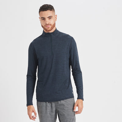 Ease Performance Half Zip | Ink Heather