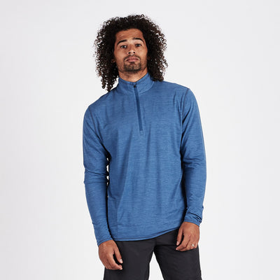 Ease Performance Half Zip | Sea Heather