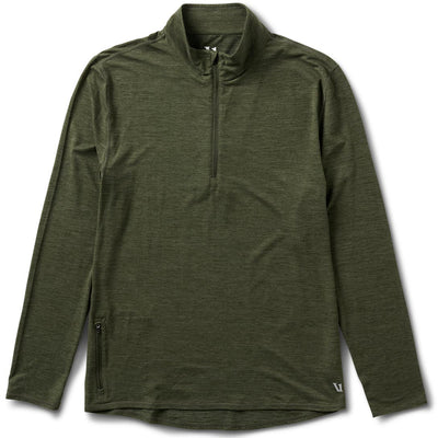 Ease Performance Half Zip | Moss Heather