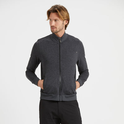 Ponto Track Jacket | Charcoal Heather