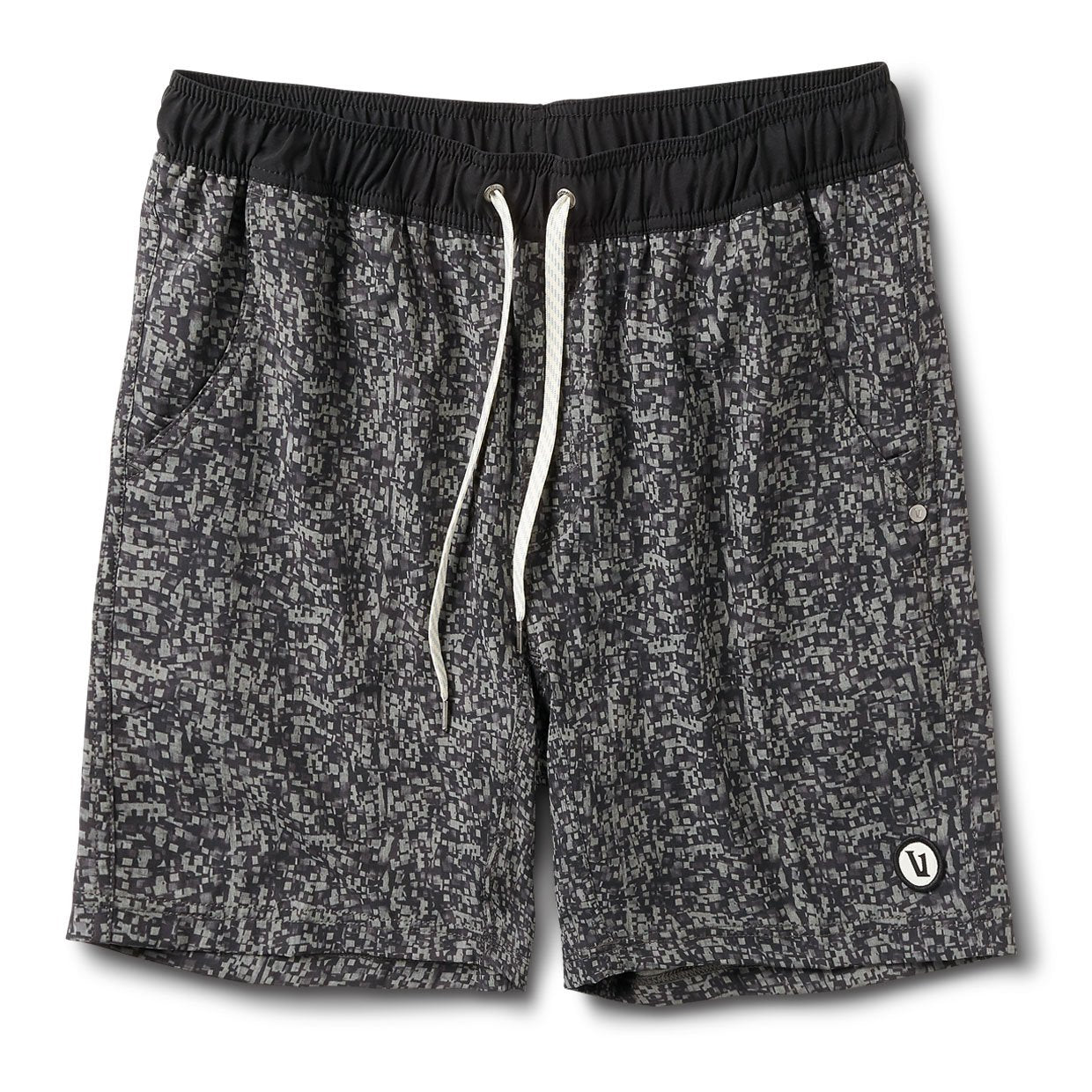 Kore Short | Grey Linen Texture Digital