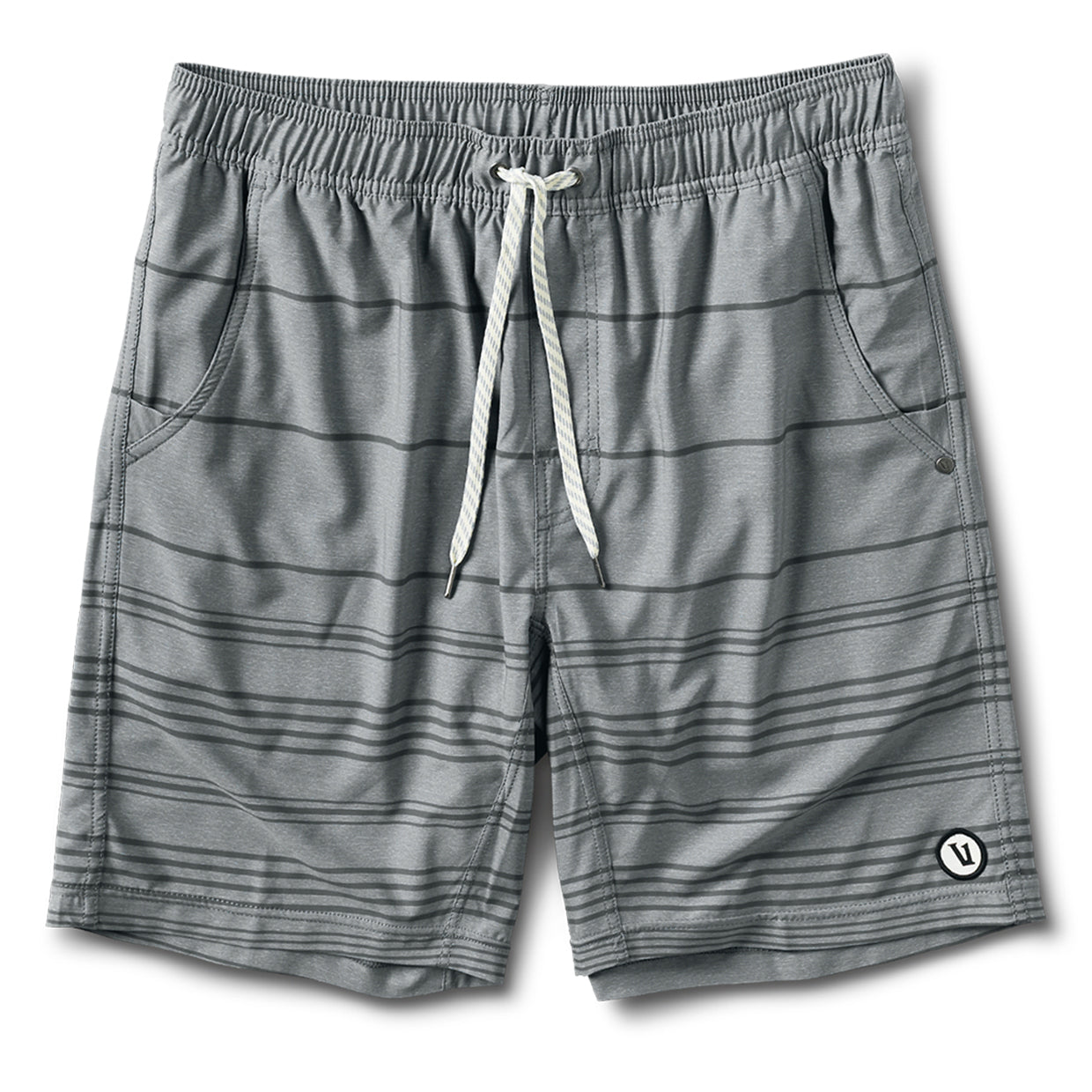 Kore Short | Grey Linen Stripe