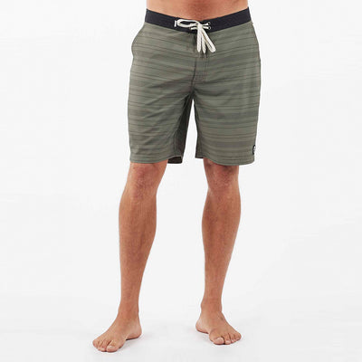 Equator Boardshort | Army Micro Stripe