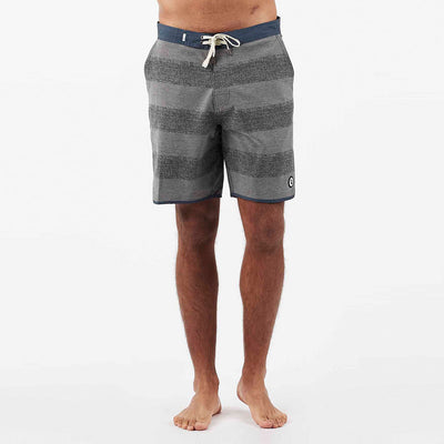 Cruise Boardshort | Grey Texture Stripe