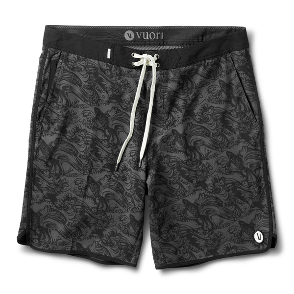 Cruise Boardshort | Black Koi Print