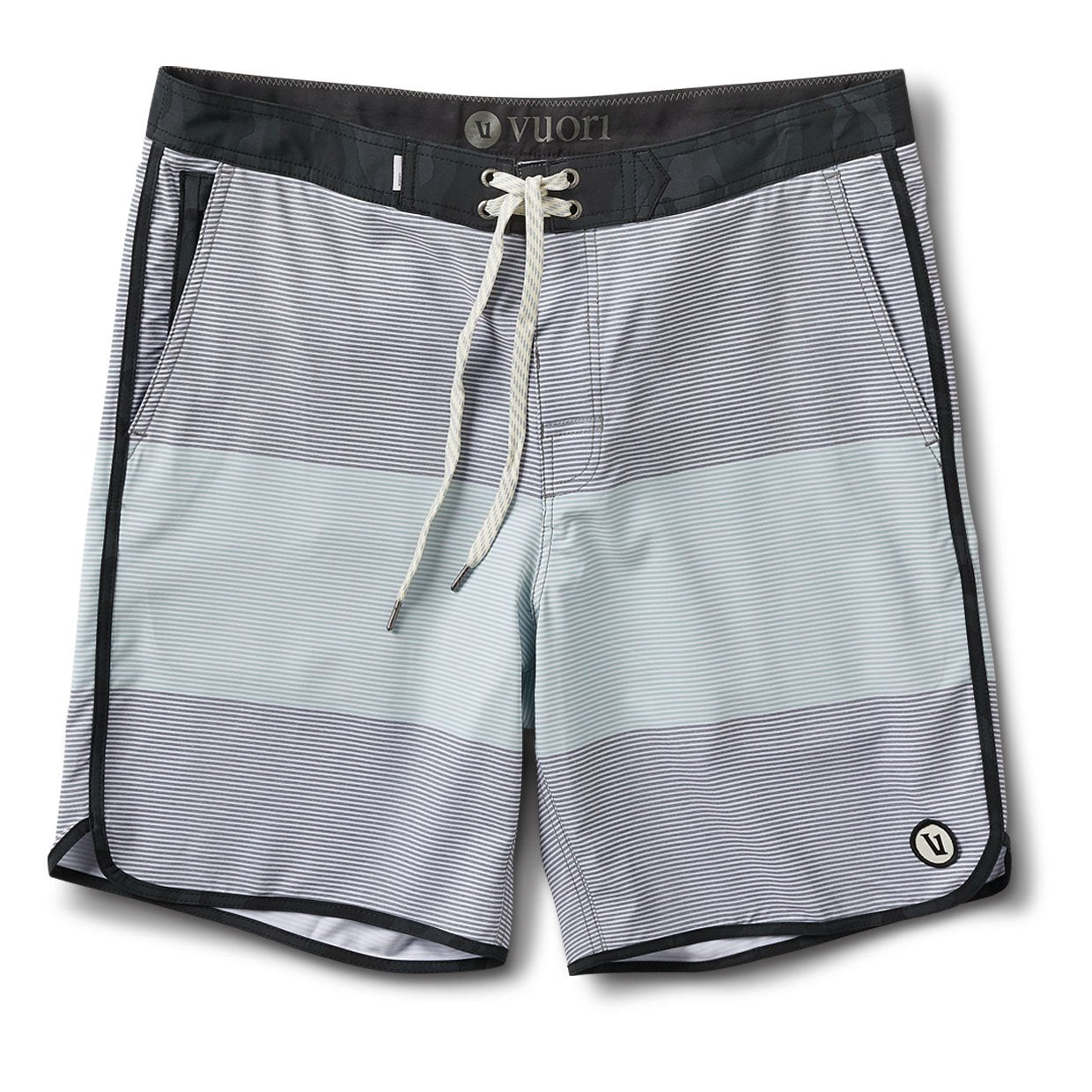 Cruise Boardshort | Grey Sea Glass Wave Stripe