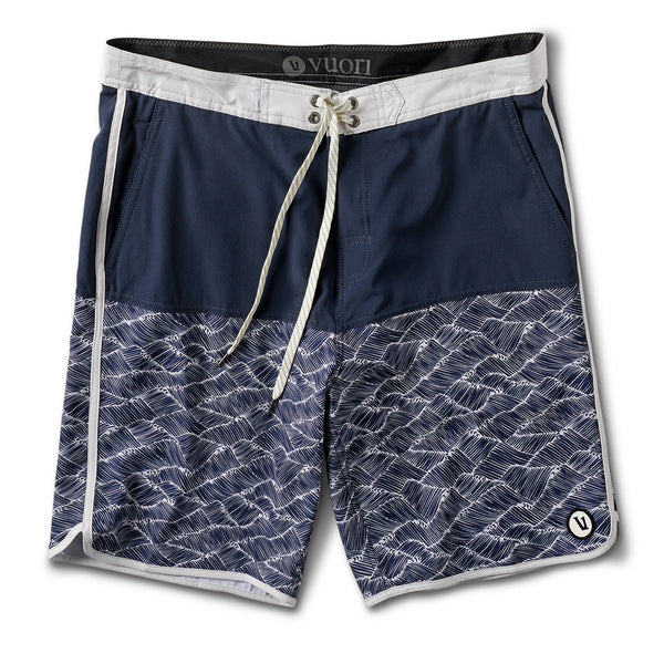 Cruise Boardshort | Navy Wave Block