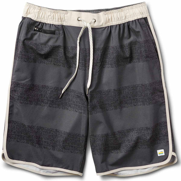 Banks Short | Black Texture Stripe