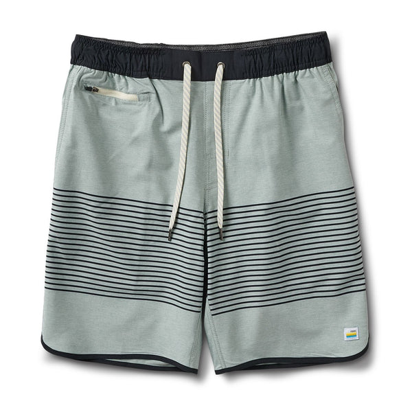 Banks Short | Sea Glass Linen Texture Stripe