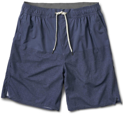 Trail Short | Navy Texture Block