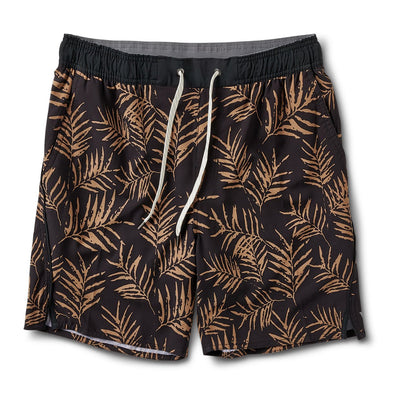 Trail Short | Black Floating Palm