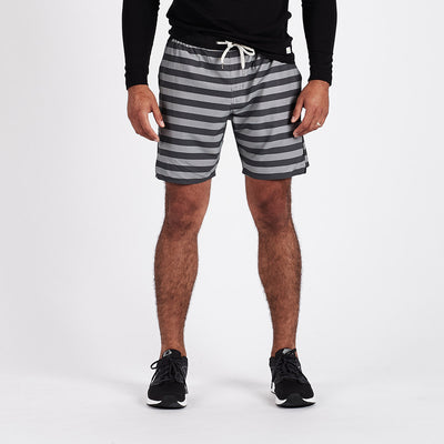 Trail Short | Charcoal Micro Stripe