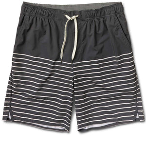 Trail Short | Charcoal Natural Stripe