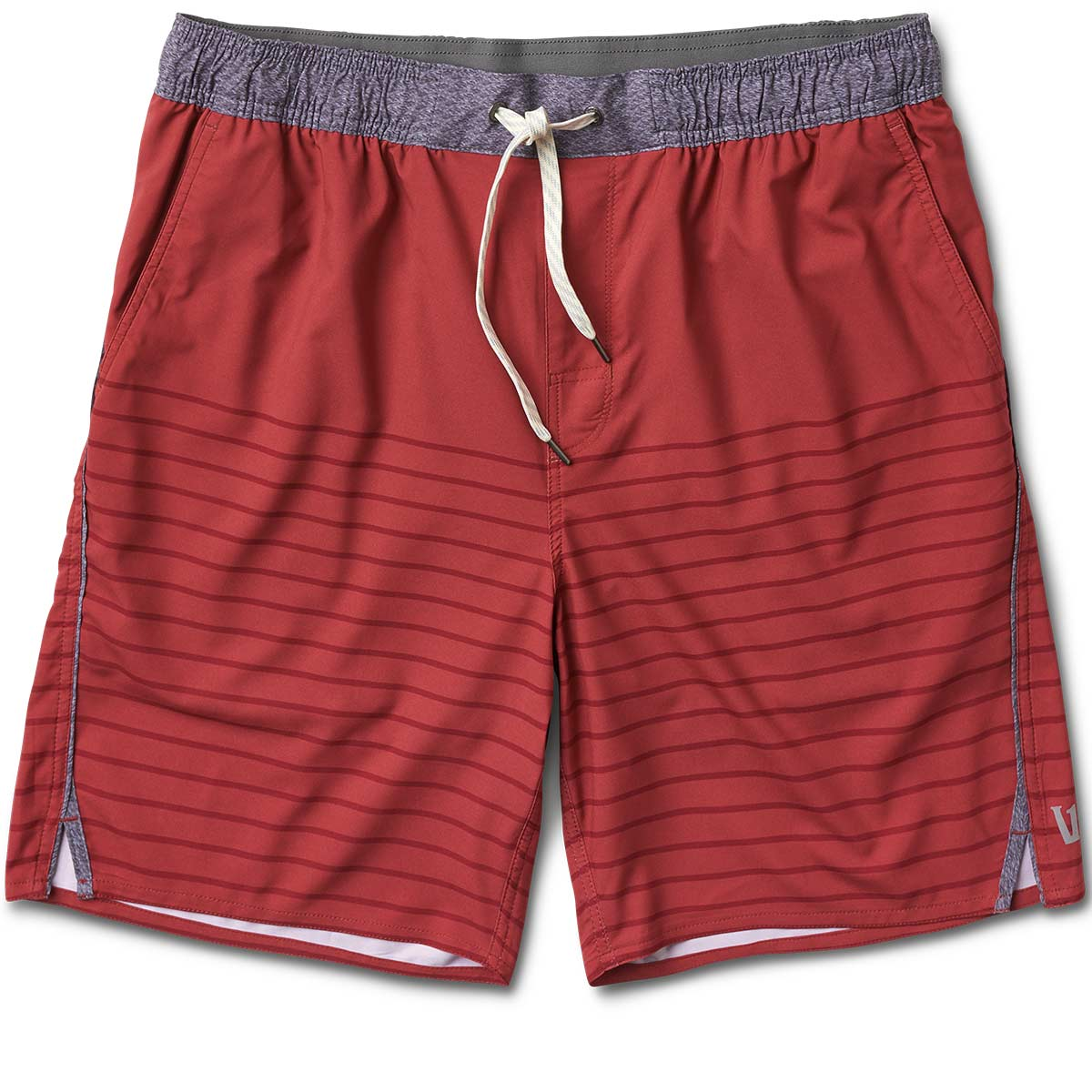Trail Short | Deep Red Tonal Stripe
