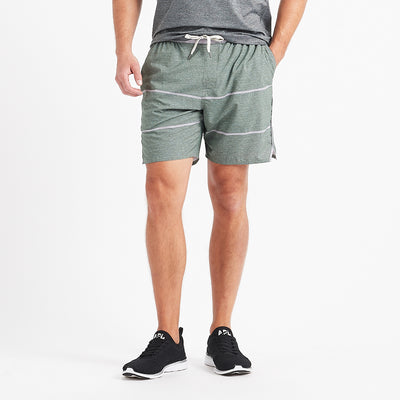 Trail Short | Evergreen Heather Stripe