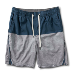 Trail Short | Indigo Stripe